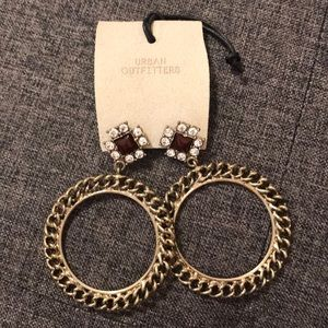NWT Urban Outfitters Gold Hoop Earrings
